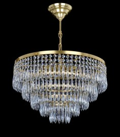 Drum crystal chandelier with 10 bulbs