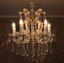 The small crystal chandelier Maria Theresa 5 lights
