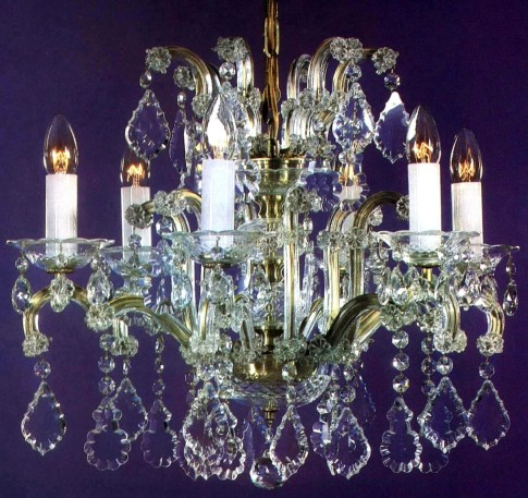 Small Bohemian crystal chandelir in Theresian style