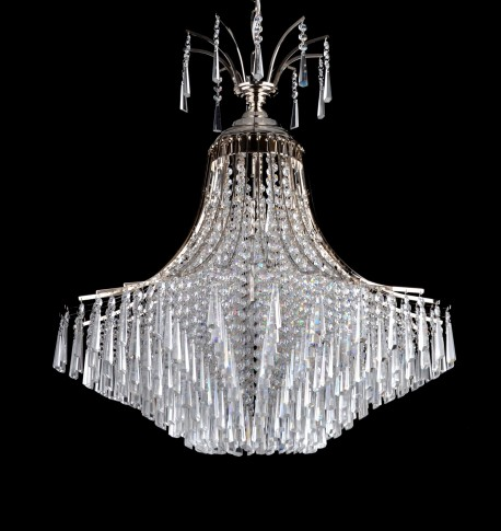 Decorative silver chandelier