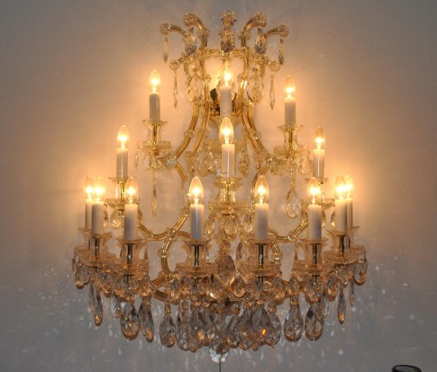 Large Maria Therese wall light 15 flames