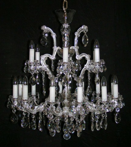 Larger Theresian crystal chandelier 18 flames