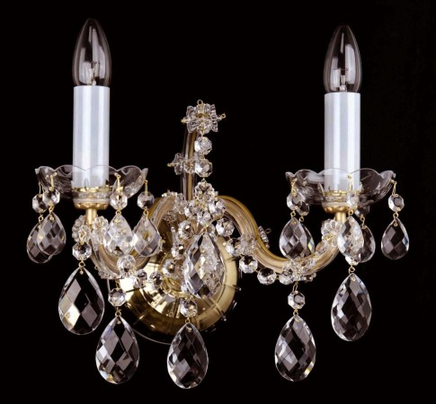 Theresian crystal light on the wall with 2 lights