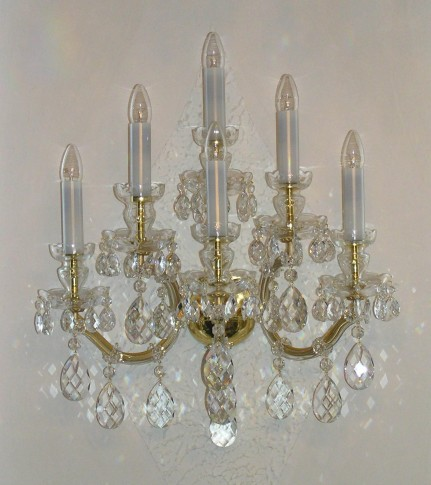 Luxury large Maria Theresa wall lamp 6 bulbs