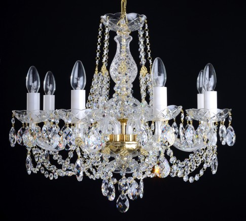 8 Arms crystal chandelier with Swarovski crystal almonds