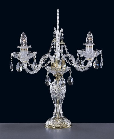 Luxury crystal lamp of hand cut glass