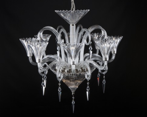 8 Light Chandelier Baccarat chandelier with vases