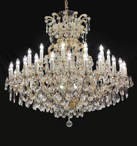 Big 36 flames Maria Theresa crystal chandelier with crystal almonds