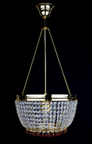 1 bulbs Strass basket crystal chandelier with Topaz drops