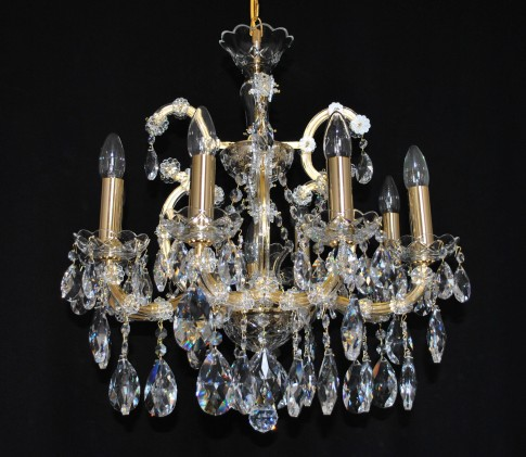 8 flames Maria Theresa crystal chandelier with crystal almonds