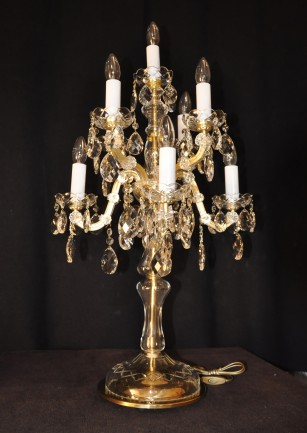 The high Maria Theresa Table lamp 9 bulbs