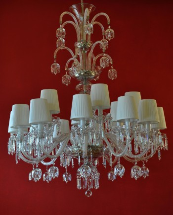 The design crystal chandelier with crystal bells 16 bulbs