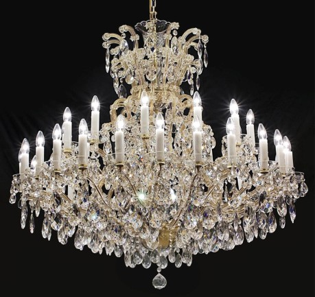 The 36 flames Maria Theresa crystal chandelier with crystal almonds