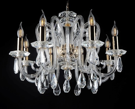 8-arm crystal chandelier with specially cut trimmingsl
