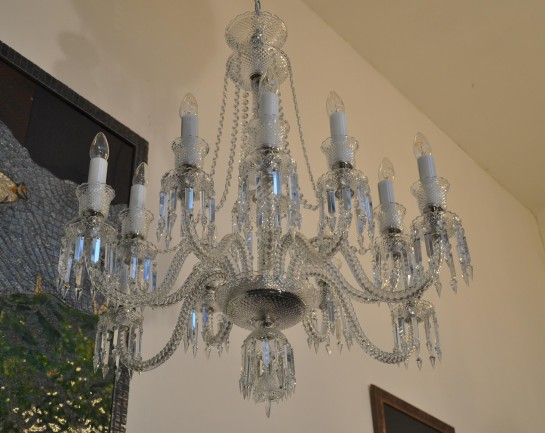 12-arm crystal chandelier Baccarat