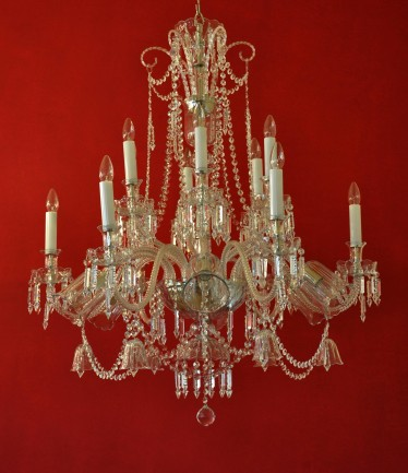 The 18 arms design crystal chandelier with crystal bells  & glass vases