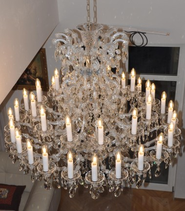 Silver Maria Theresa chandelier