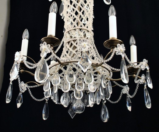 Pearl chandelier in French empire style