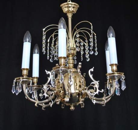 The 6 arms hunting crystal chandelier