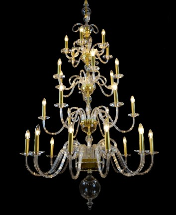 Big glass design chandelier