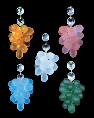 Sandblasted glass grapes
