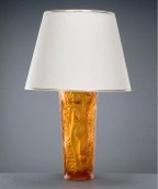 Orange Table Lamp (Amber glass)