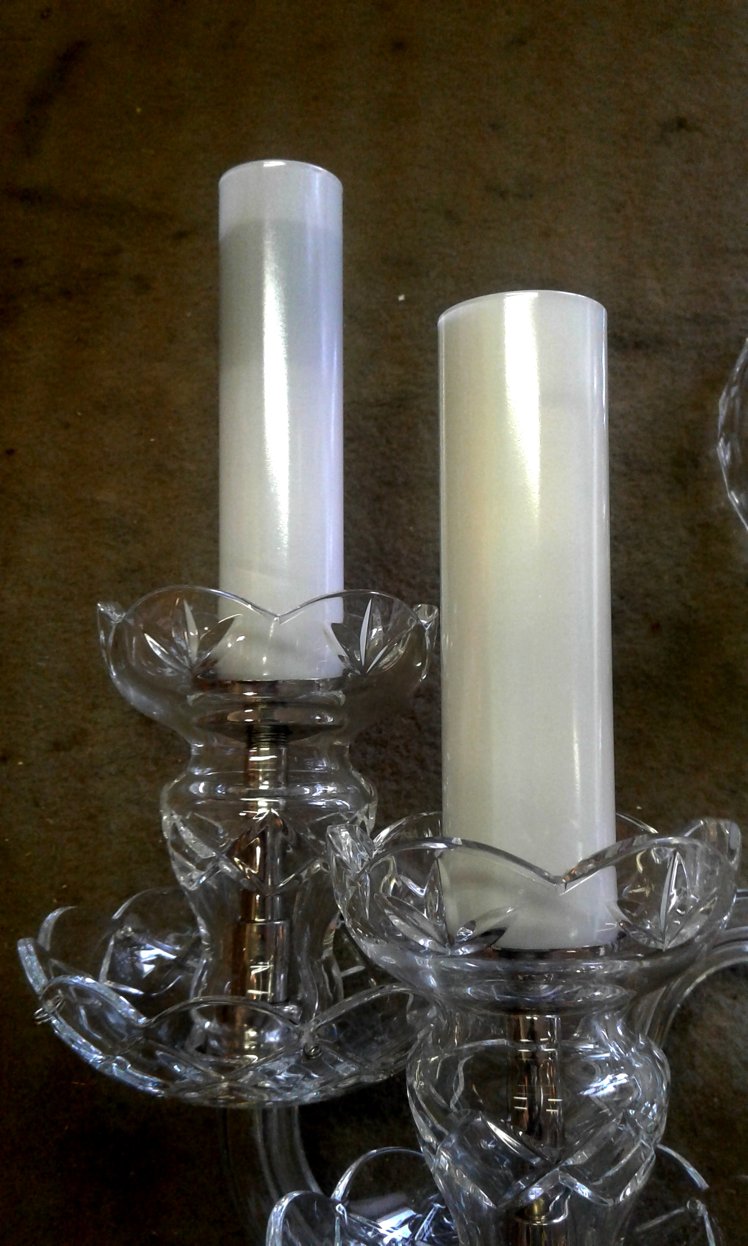 The milk glass covering tubes - optional dia 28 or 32 mm